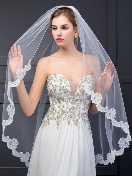 Ericdress Appliques Cheap Wedding Veil