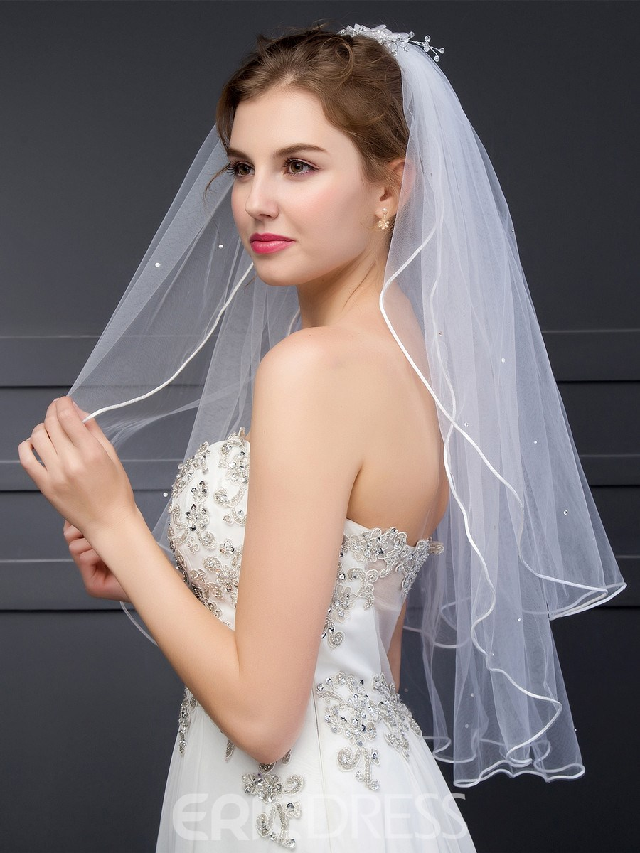 Ericdress Simple Two-Layer Bridal Veil