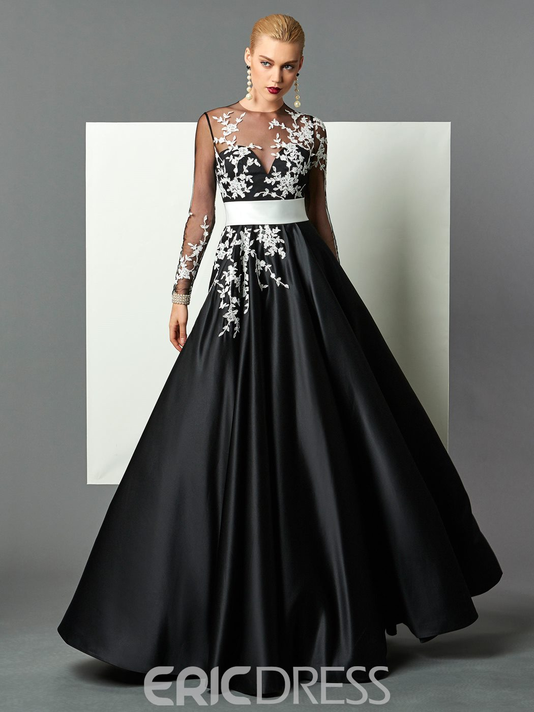 Sleeve Floor Length Formal Dress