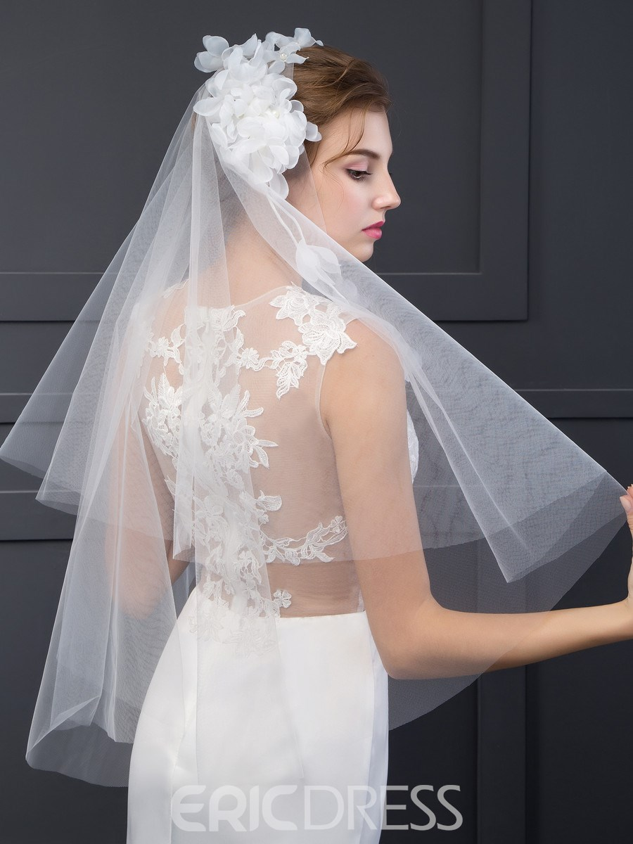 Ericdress Amazing Bridal Veil with Flowers