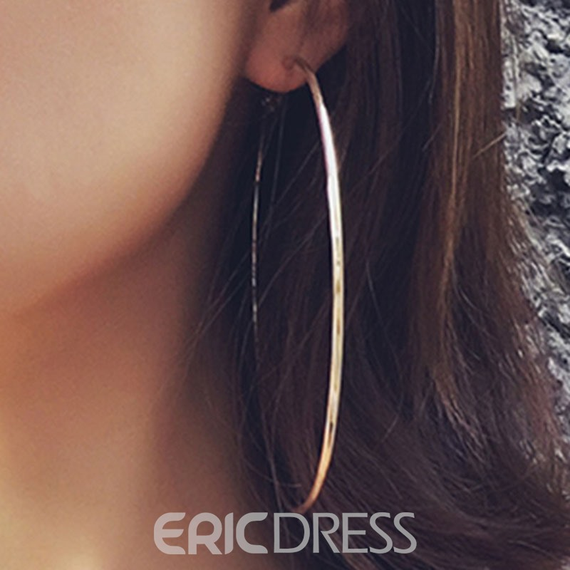 Ericdress Exaggerated Alloy Round Earrings