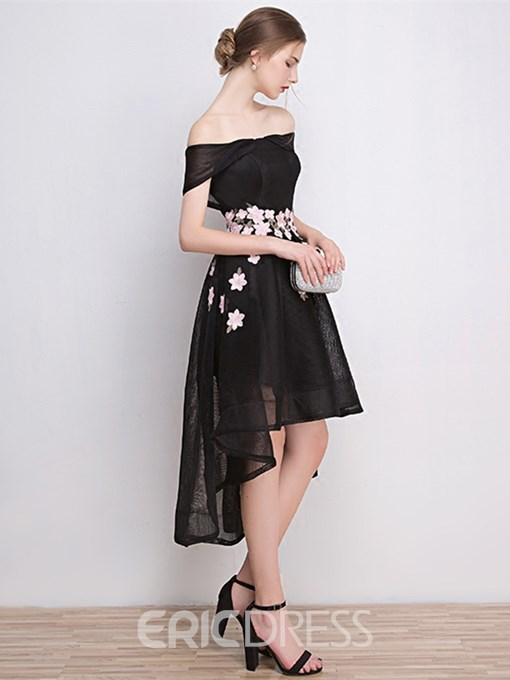 Ericdress Chic A Line Off The Shoulder High Low Cocktail Party Dress