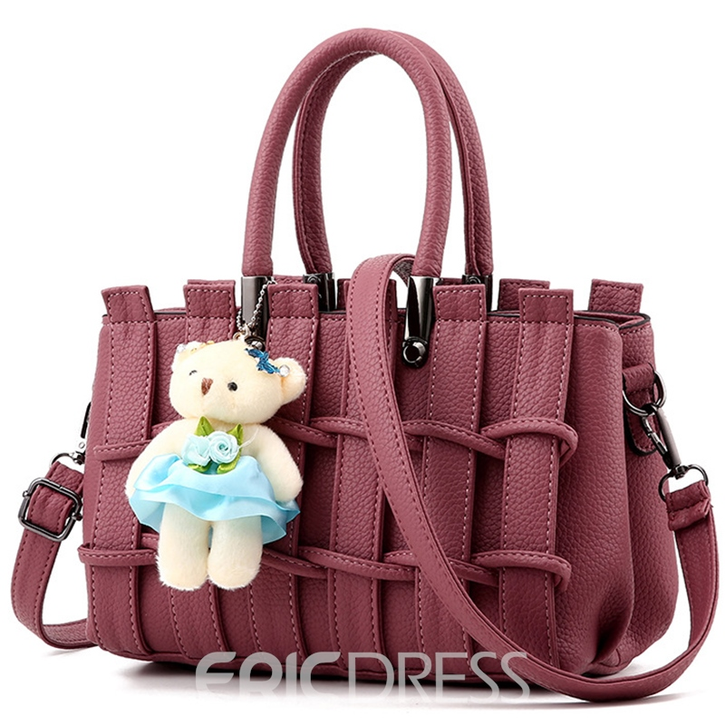 Ericdress Sweet Colorful Fence Rectangle Handbag