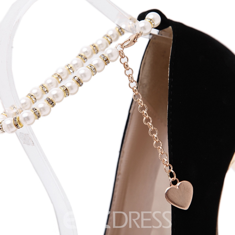 Ericdress Vintage Beads Platform Prom Shoes