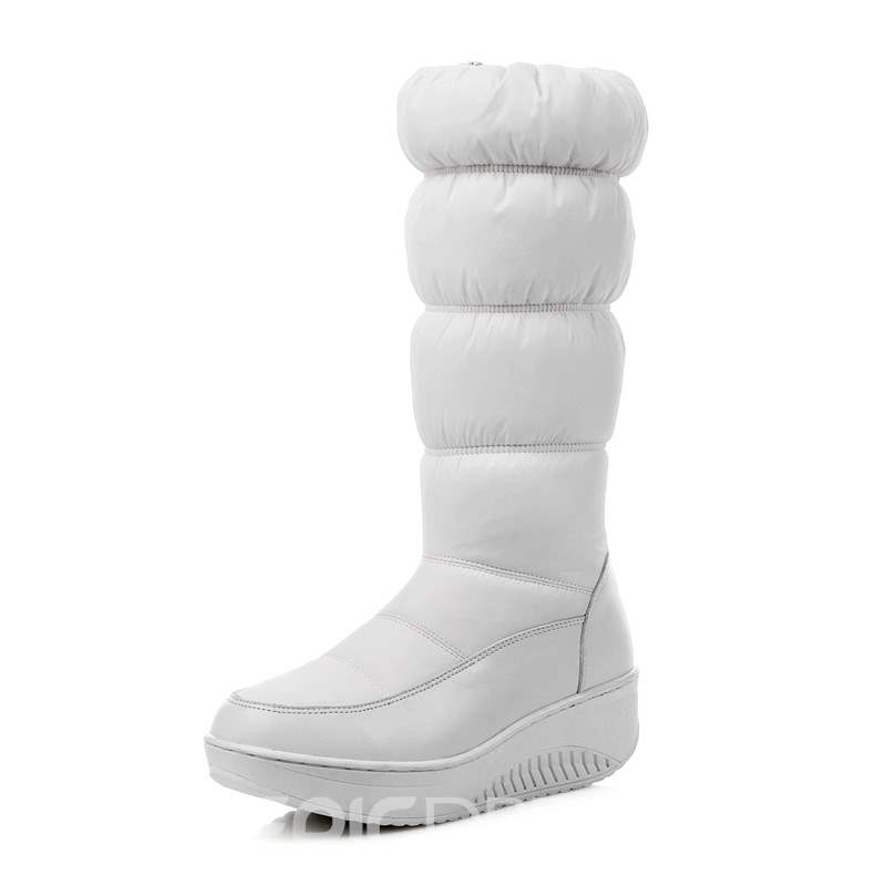 Ericdress Patchwork Side Zipper Snow Boots