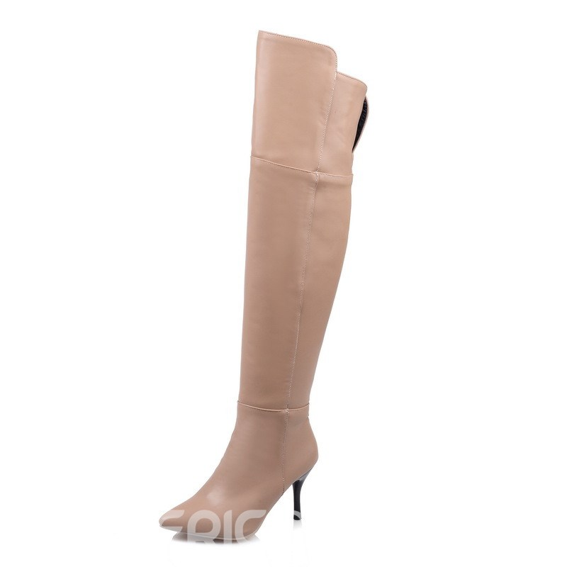 Ericdress Popular PU Point Toe Thigh High Boots