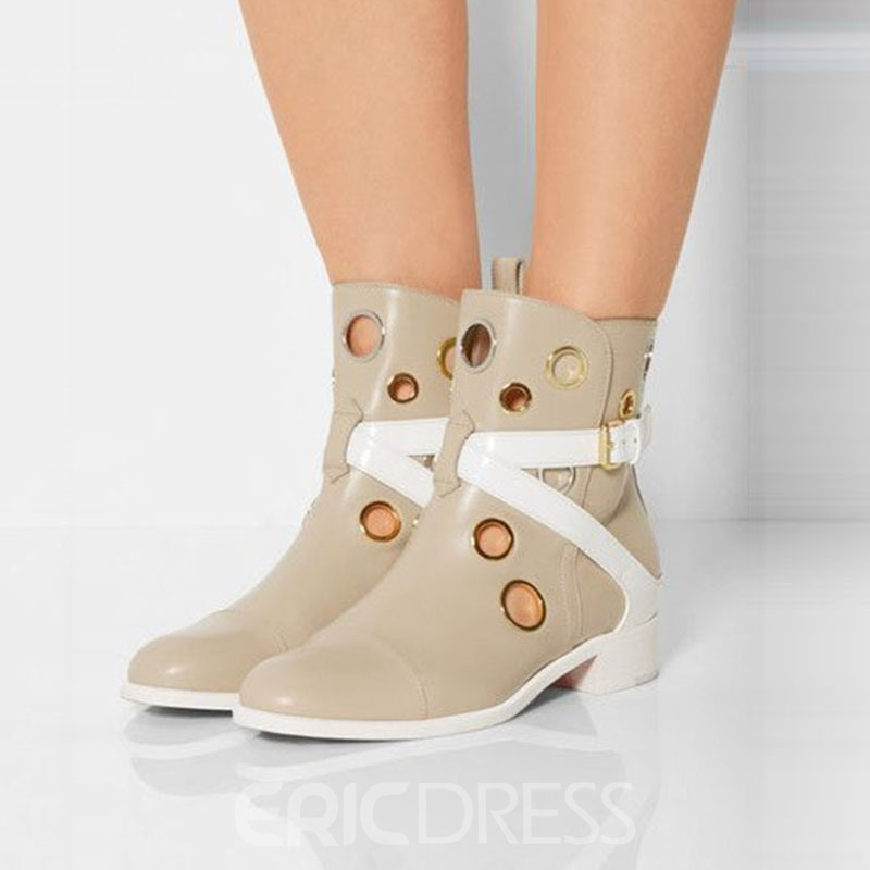 Ericdress Circle Cut Out Ankle Boots