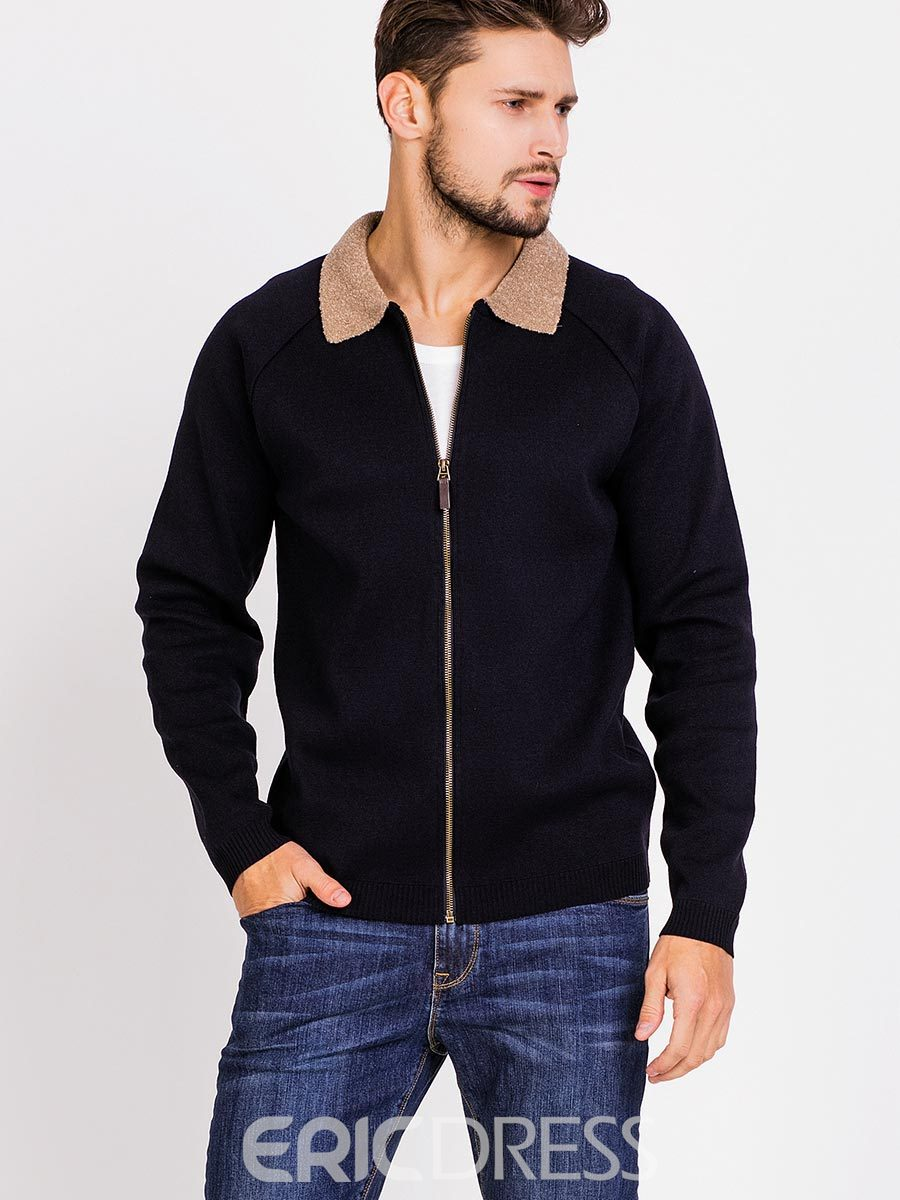 Ericdress Knit Patchwork Zip Vogue Men's Jacket