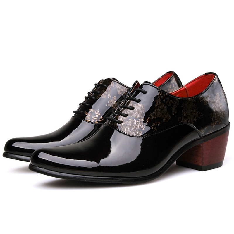 Ericdress Patchwork Block Heel Men's Oxfords
