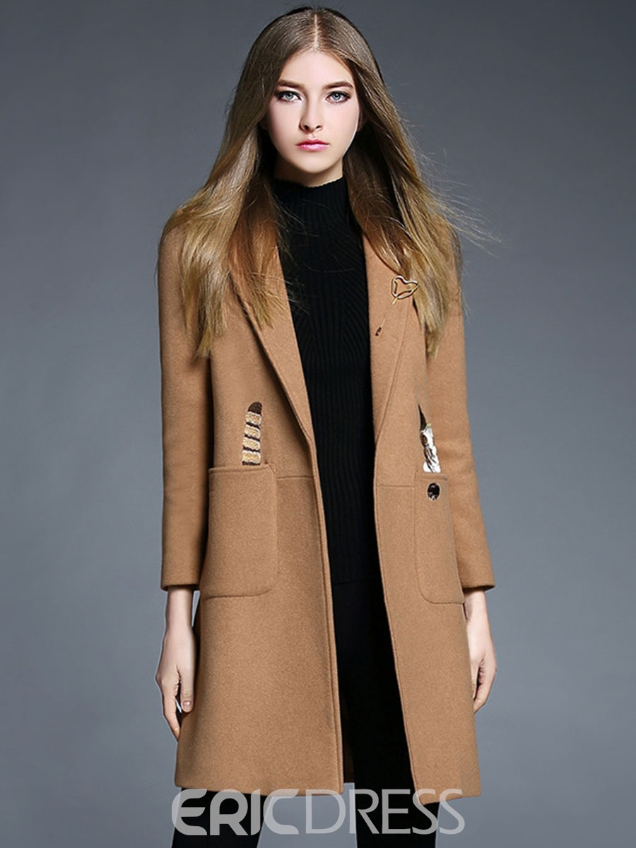Ericdress Elegant Straight Coat