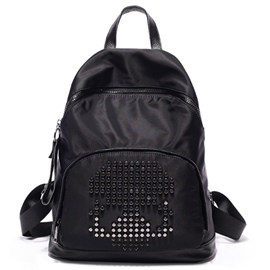 Ericdress Preppy Rivets Decorated Backpack