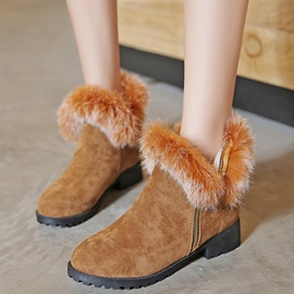 Ericdress Charming Short Floss Ankle Boots