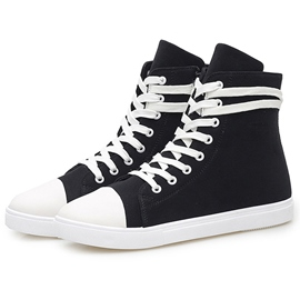 Ericdress British High Cut Men's Canvas Shoes