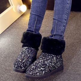 Ericdress Sequins Round Toe Snow Boots