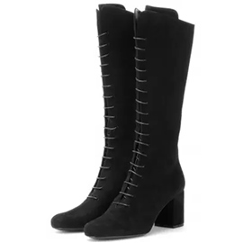 Ericdress Splendid Lace-Up Front Chunky Heel Knee High Boots