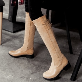 Ericdress Delicate Buckles Thigh High Boots