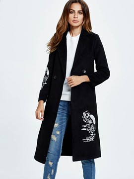 Ericdress Straight Printed Coat