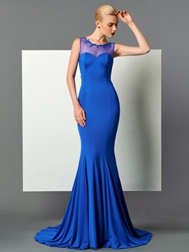Ericdress Elastic Spandex Sleeveless Court Train Mermaid Evening Dress