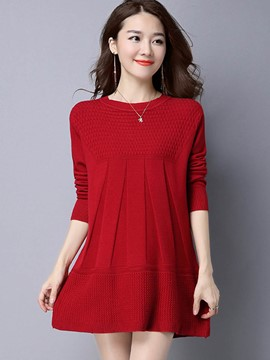 Ericdress Solid Color Loose Womens Knitwear