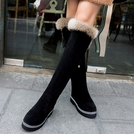 Ericdress Suede Platform Thigh High Boots