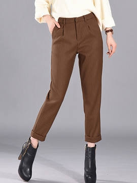 Ericdress Stripe Print Loose Harem Pants
