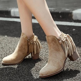 Ericdress Charming Suede Tassels Ankle Boots