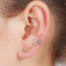 Ericdress Exquisite Diamante Arrow Design Ear Cuff
