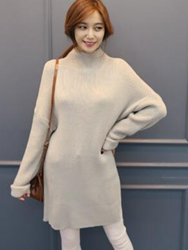 Ericdress Loose Shoulder sleeve Cowl-Neck Sweater Dress