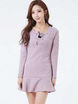 Ericdress Sweet Above Knee Mermaid Sweater Dress