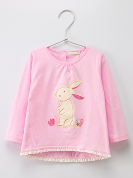 Ericdress Rabbit Print Long Sleeve Baby Girls T-Shirt