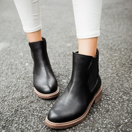 Ericdress PU Slip on Ankle Boots