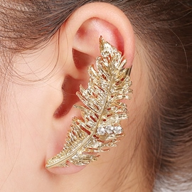Ericdress Exaggerated Golden Leaves Ear Cuff