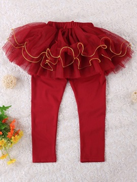 Ericdress Double-Layer TUTU Skirt Girls Leggings
