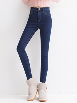 Ericdress Patchwork Pocket Skinny Jeans