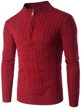 Ericdress Vogue Half Zip Pullover Slim Men's Sweater