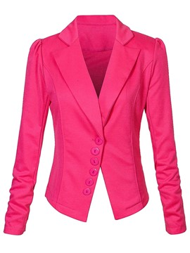 Ericdress Solid Color Slim Single-Breasted Blazer