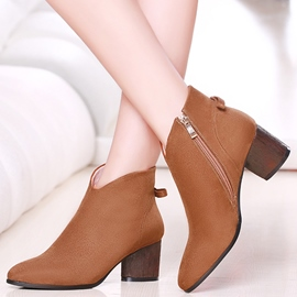 Ericdress Elegant Point Toe Side Zipper Ankle Boots