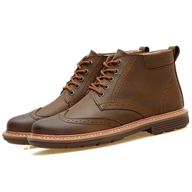 Ericdress Chic Round Toe Plain Men's Brogue Boots