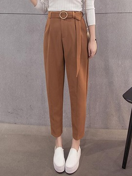 Ericdress Plain Color Thick Loose Harem Pants