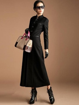 Ericdress Fashion Single-Breasted Epaulet Sheath Dress