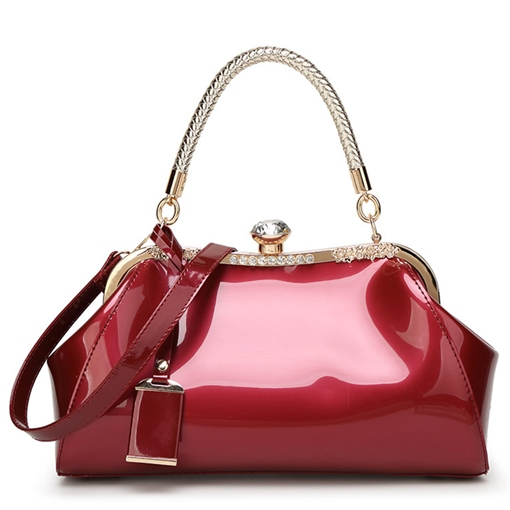Ericdress PU Clip Plain Wing Tote Bags