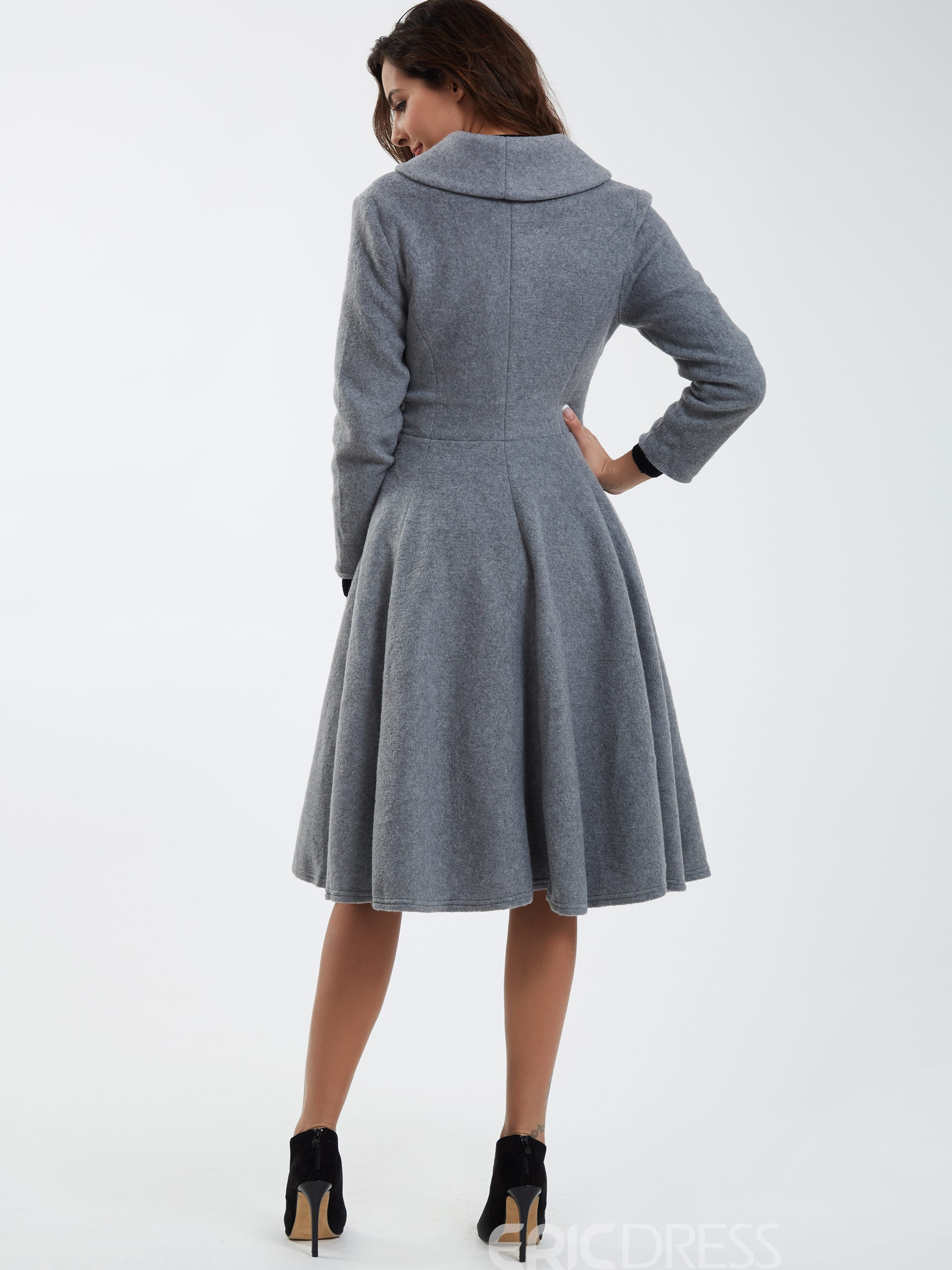 Ericdress Elegant Pleated Coat