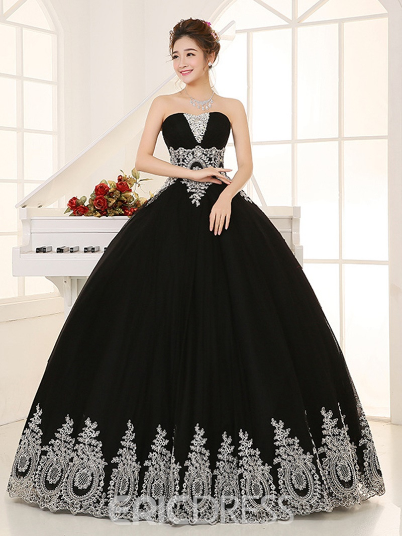 Ericdress Vintage Ball Gown Appliques Beading Crystal Sequins ...