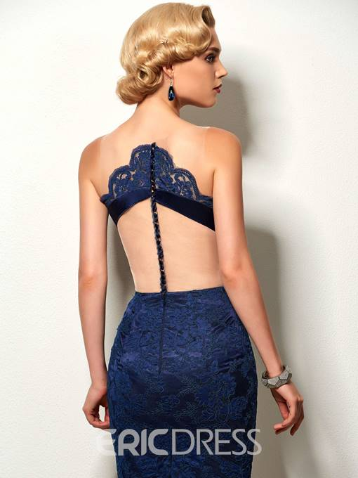 Ericdress Sexy Sheer Scoop Appliques Lace Knee-Length Cocktail Dress