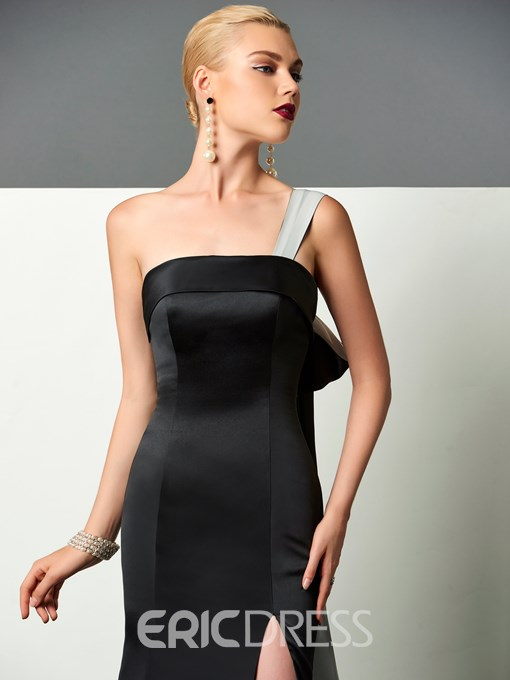 Ericdress Unique Design One Shoulder Slit Side Trumpet Evening Dress