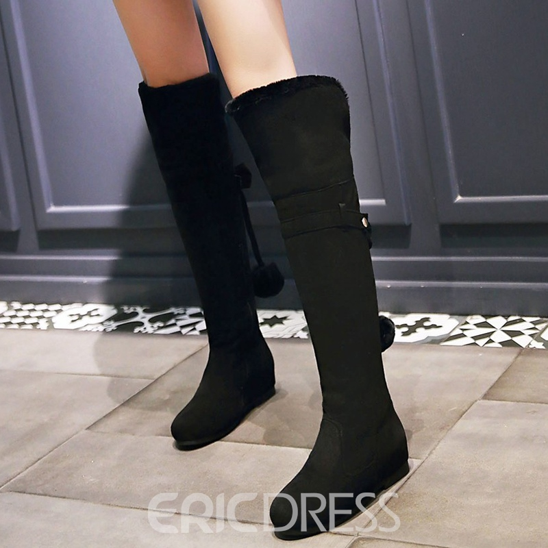 Ericdress Chic Short Floss Back Tassels Thigh High Boots