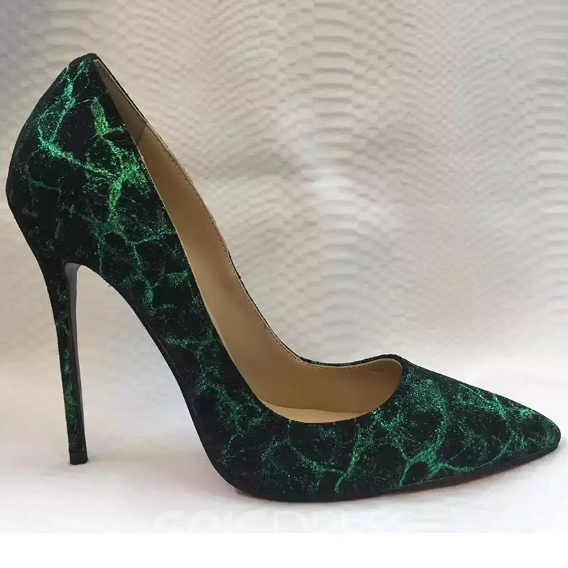 Ericdress Noble Green Point Toe Pumps