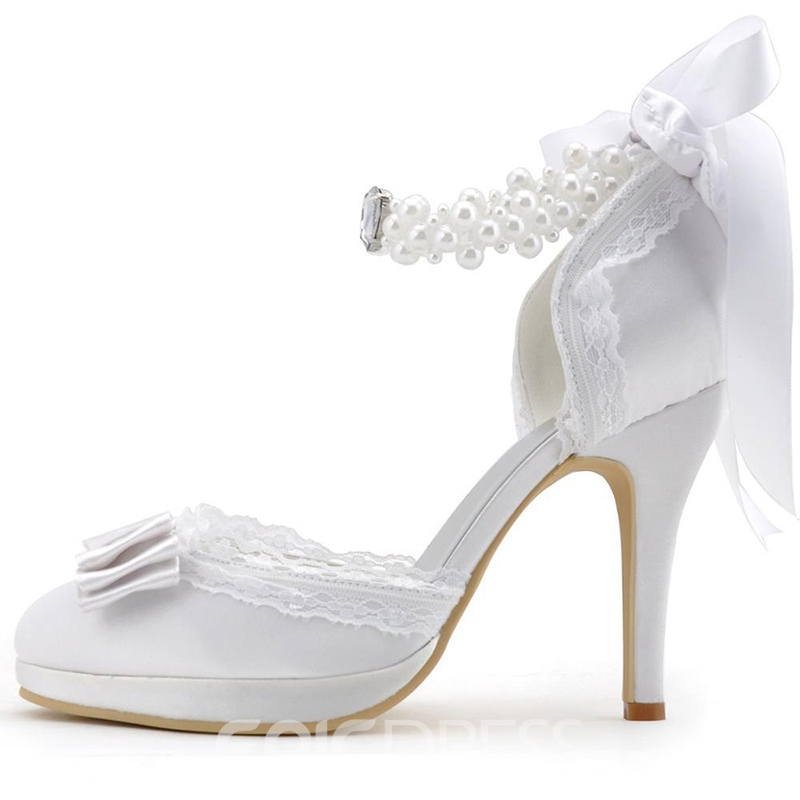 Ericdress Charming Bowtie Ribbon Wedding Shoes