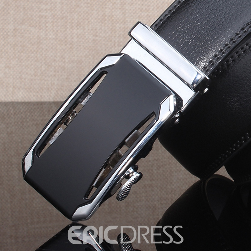 Ericdress Automatic Buckle Genuine Leather Belt for Men