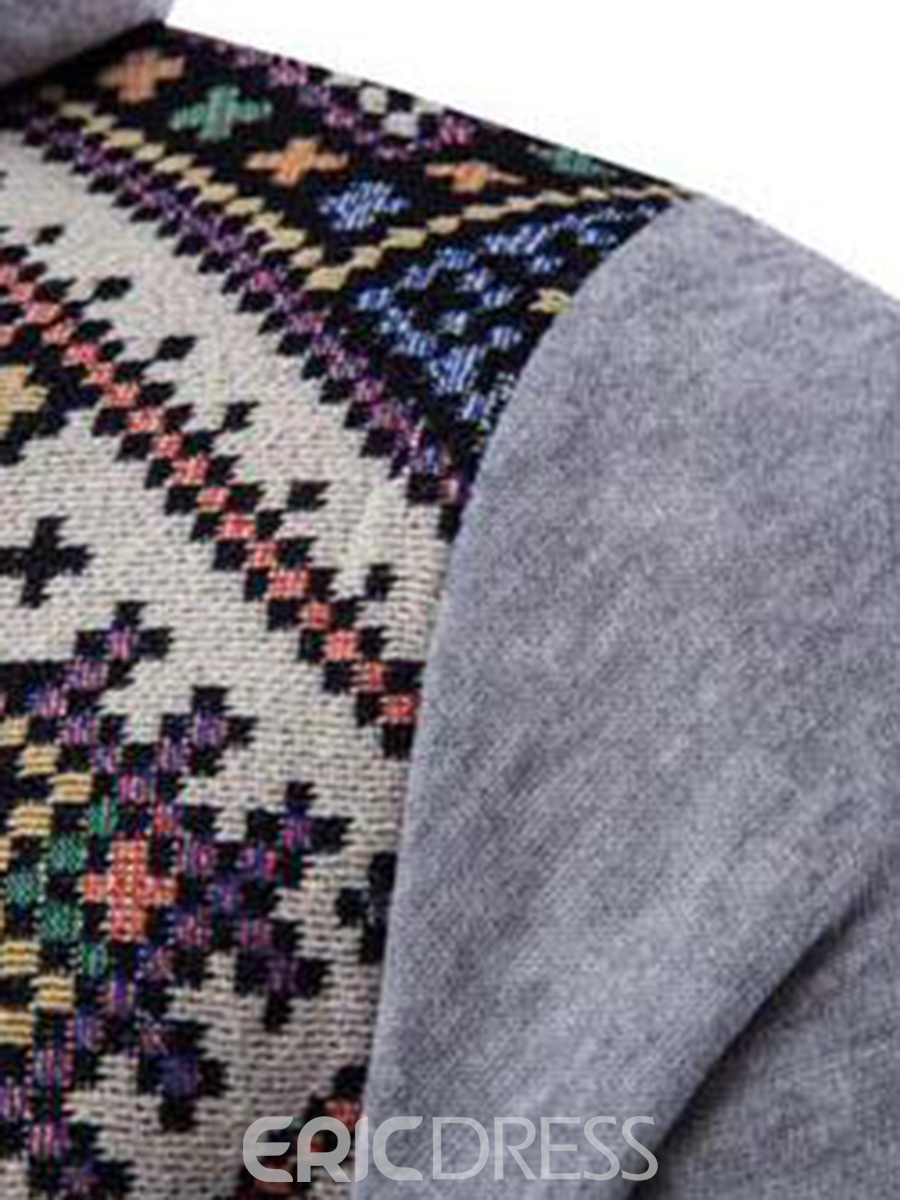 Ericdress Ethnic Style Casual Patchwork Pullover Men's Hoodie